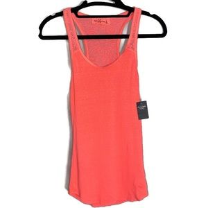 NWT A&F Hot orange Crochet racer back tank Size M